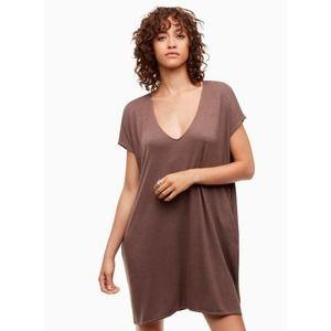 Aritzia Wilfred Free Marcoux Taupe Mini Dress